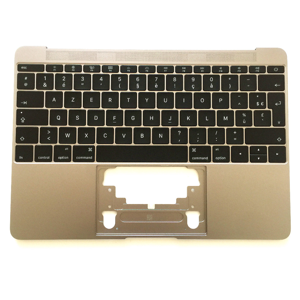"98/% NEW Silver US Keyboard Topcase 613-02547-A for MacBook 12/"" A1534 2016 2017"