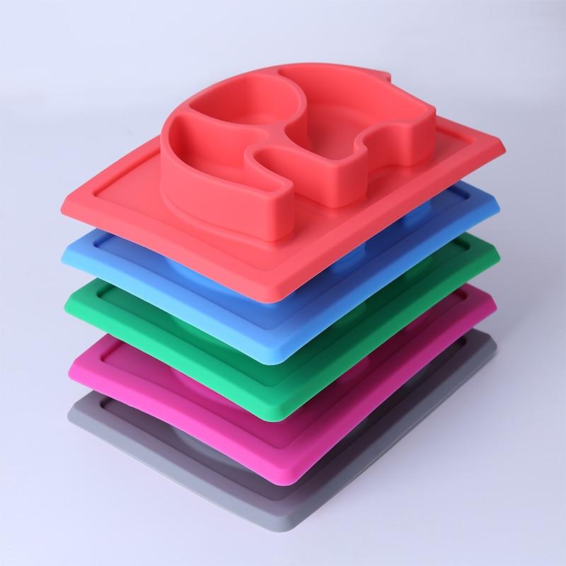 BPA: n vapaa liukumaton vauvan silikoni-elefantti-alusta lapsille, - Lapsi ruokinta - Valokuva 2