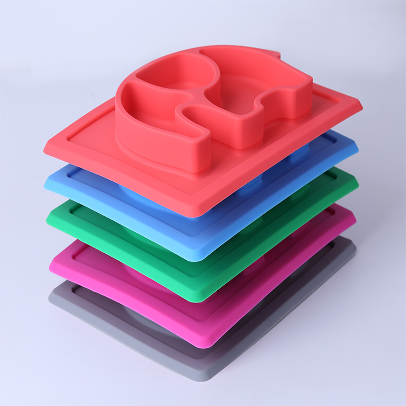 BPA free non slip baby silicone elephant placemat for kids todller children,in one piece placemat