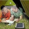 Hot Sale 25LED Camping Solar Luz Azul/Verde/Branco Energia Solar Multifunções Controle Remoto Led Spotlight Luz Tenda Com Carregador AC