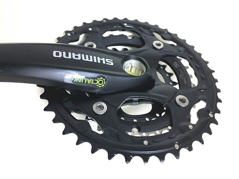170mm Shimano SG-X M522 Octalink 10 Speed Triple Chainset 24 Black 32 42T