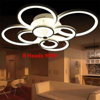 Dimmer Ring Acrylic LED Ceiling Lights Living Room Bedroom Lamps Creative Circle Plafonnier Modern Minimalist Lamparas