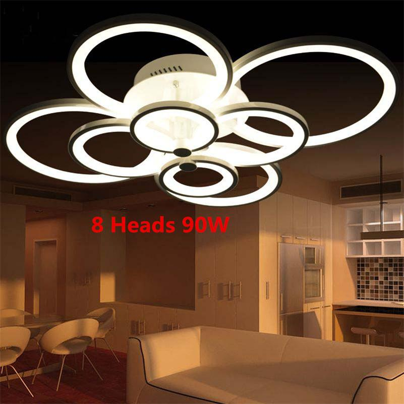 Ring Acrylic LED Ceiling Lights Living Room Bedroom Dimmable Lamp Creative Circle Plafonnier Modern Minimalist Lamparas de Techo modern minimalist 9w led acrylic circular wall lights white living room bedroom bedside aisle creative ceiling lamp