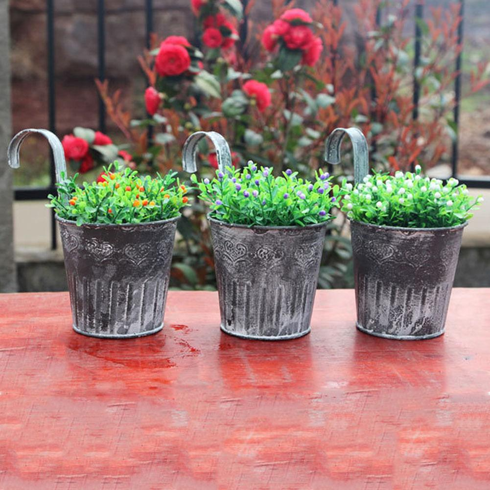 Wall Hanging Flower Pot Garden Fence Balcony Plants Holder