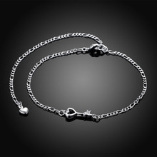 Key Shape Anklet 20cm Anklets Factory Price 925 jewelry silver plated Anklets Fashion Jewelry Solid Silver Anklet JL-A024