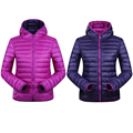 90% Winter Duck Down Jacket Women Hooded Ultra Light Down Jackets Reversible two side wear women jacket Winter Coat Parkas