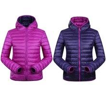 90% Winter Duck Down Jacket Women Hooded Ultra Light Down Jackets Reversible two side wear women jacket Winter Coat Parkas