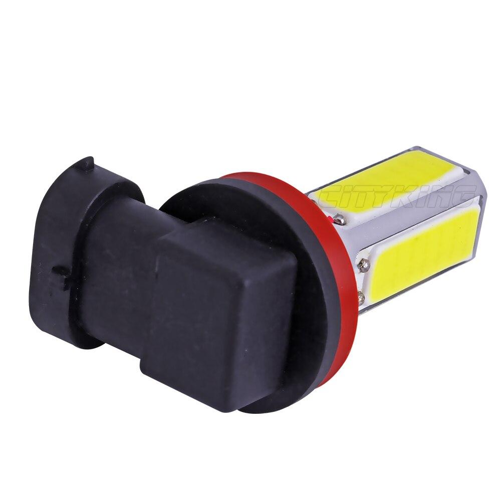 Комплекты одежды из 2 х Автомобильный суперъяркий светодиодный противотуманный фонарь H11 H8 h7 h4 h16 COB день передняя фара для вождения Противотуманные лампы белого цвета