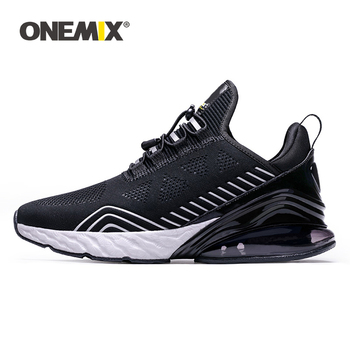 ONEMIX Men Sneakers Luxury Brand High-Top Breathable Knitted Mesh Air Cushion Damping Casual Sports Shoes Couples Jogging Shoes