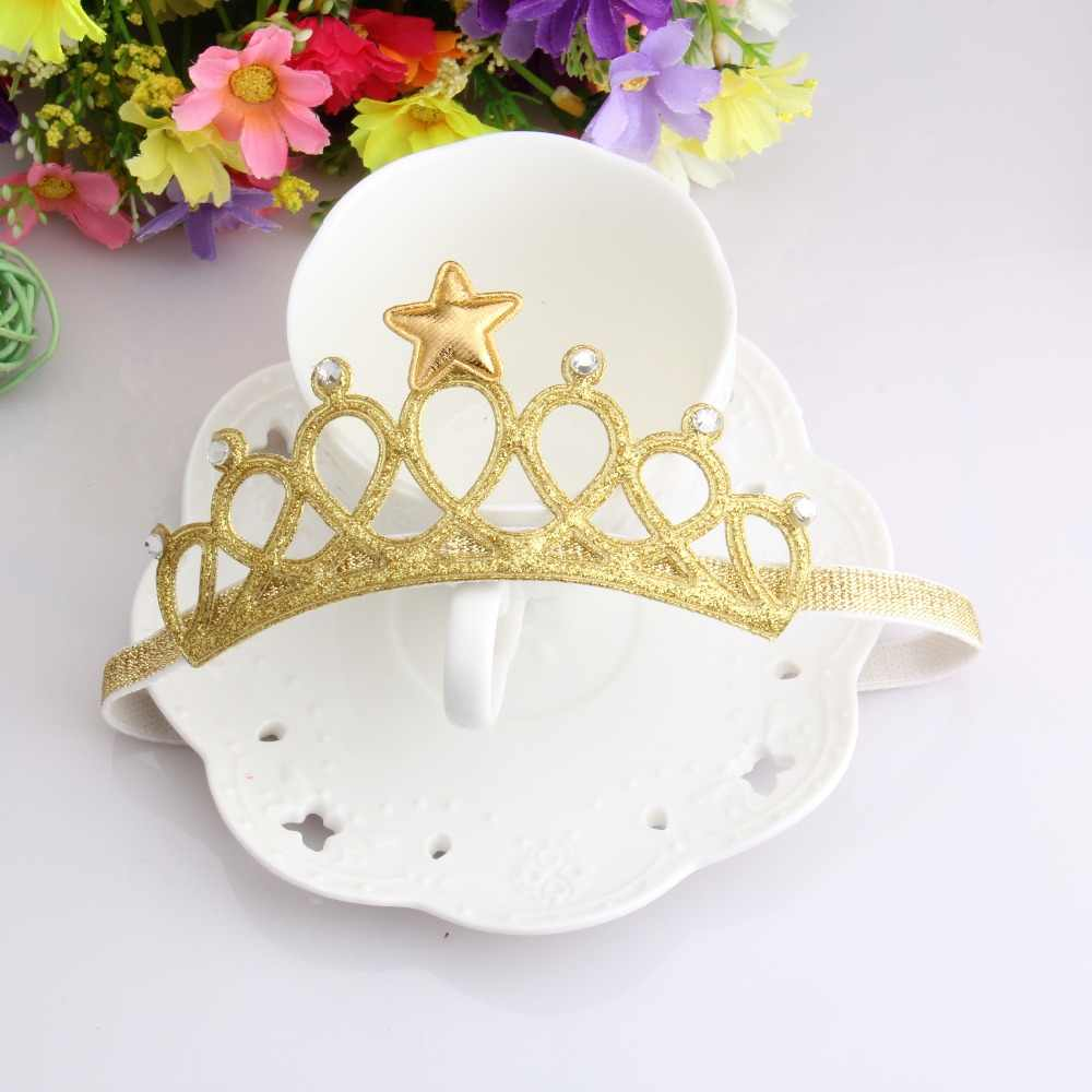 M MISM Children Crown Headbands Newborn Baby Rhinestone Princess Tiara Headwear Hairband Cute Star Headdress Hair Accessories