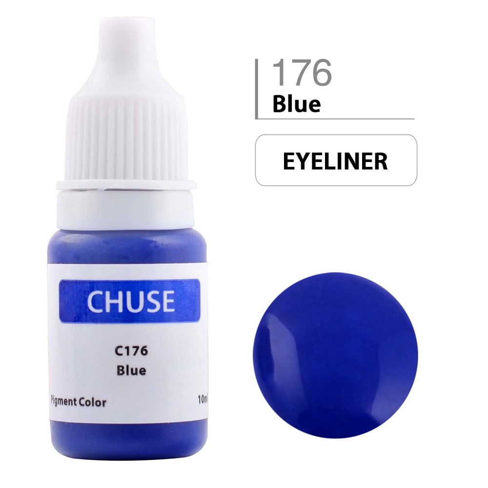 CHUSE C1 Permanent Makeup Ink 6 Colors Professional Tattoo Ink Supply for Eyeliner & Eyeliner Shaded Cosmetic microblading 15