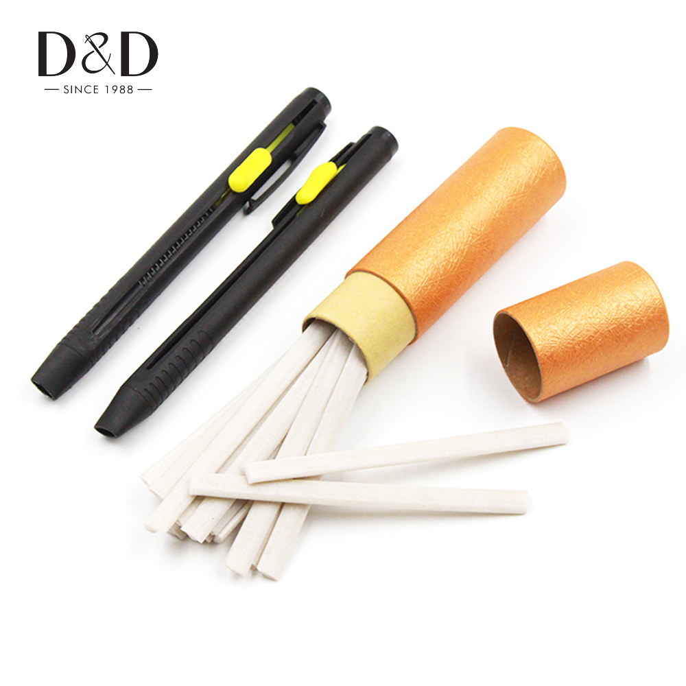 1 Set Tailor Chalk Pen Wax Pencil Invisible Marking Chalks for Dressmaking Sewing Crafts Garment Fabrics Sewing Accessories