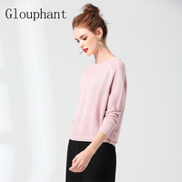 Glouphant 2017 Autumn Classic Solid Stripe Short Section Knitted Pullover Sweater Women Winter Out Wear Clothing