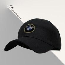 Customized car logo hat cotton washed high-grade fabric BMW racing cap Sports baseball cap