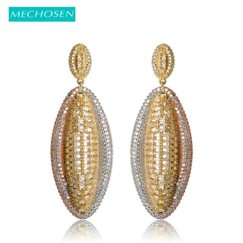 MECHOSEN Delicate Geometric Long Earrings For Women Nigerian Wedding Jewelry  Full Crystal Cubic Zirconia Dubai Boucle d oreille-in Drop Earrings from ... 83be34df5de2