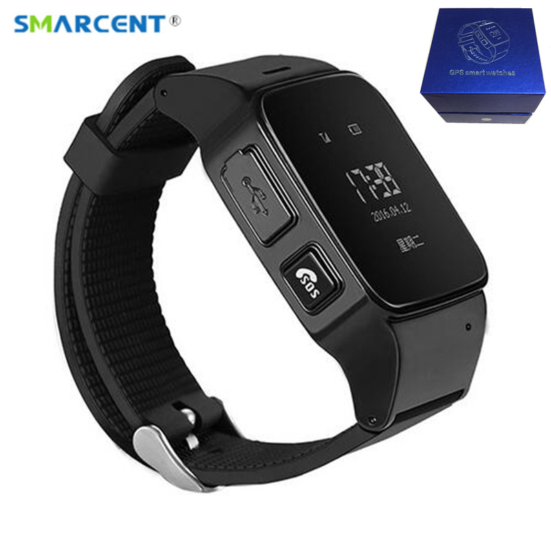 SMARCENT D99 Elderly Kids GPS Tracker Android Smart Watch for Map SOS Wristwatch GSM Wifi Safety Anti-Lost Locator Watch PK D100