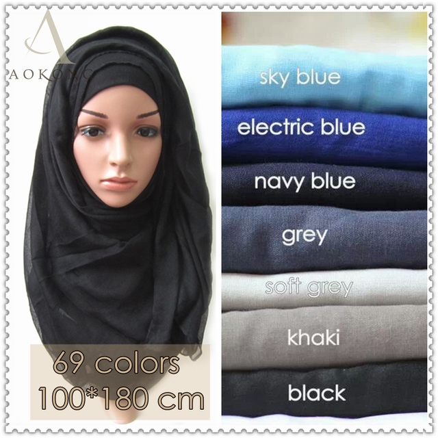 10pcs lot islamic muslim hijab scarf solid plain viscose hijabs fashion  maxi shawls foulard women long scarves bandana wraps 51850e524cb
