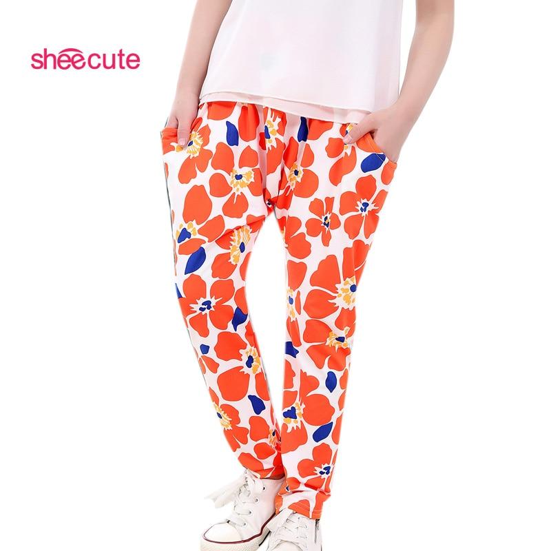 Nou 2016 fete pantaloni imprimare floare Harem pantaloni toamna - Haine copii