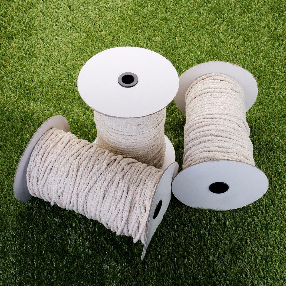 1000g di Cotone Bianco Ritorto Intrecciato Cavo Corda FAI DA TE Accessori Tessili per la casa Del Mestiere Stringa Macrame 1 2 3 4 5mm