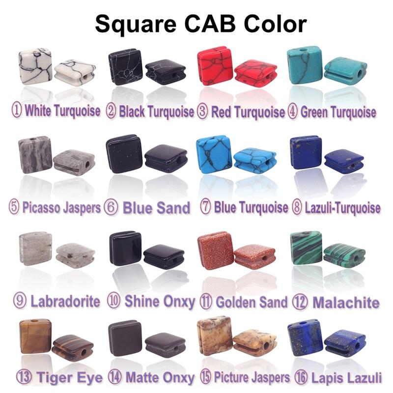 Square Stone Beads