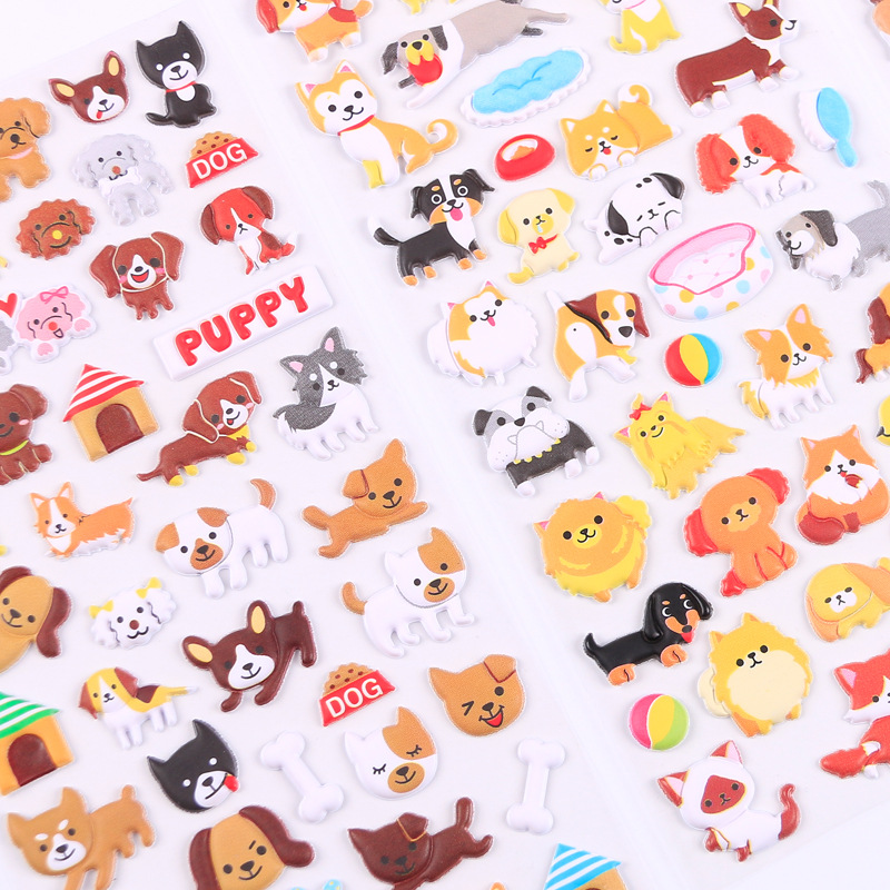 Lovely Dog Puppy 3D Decorative Stickers Adhesive Stickers DIY Decoration Diary Stickers