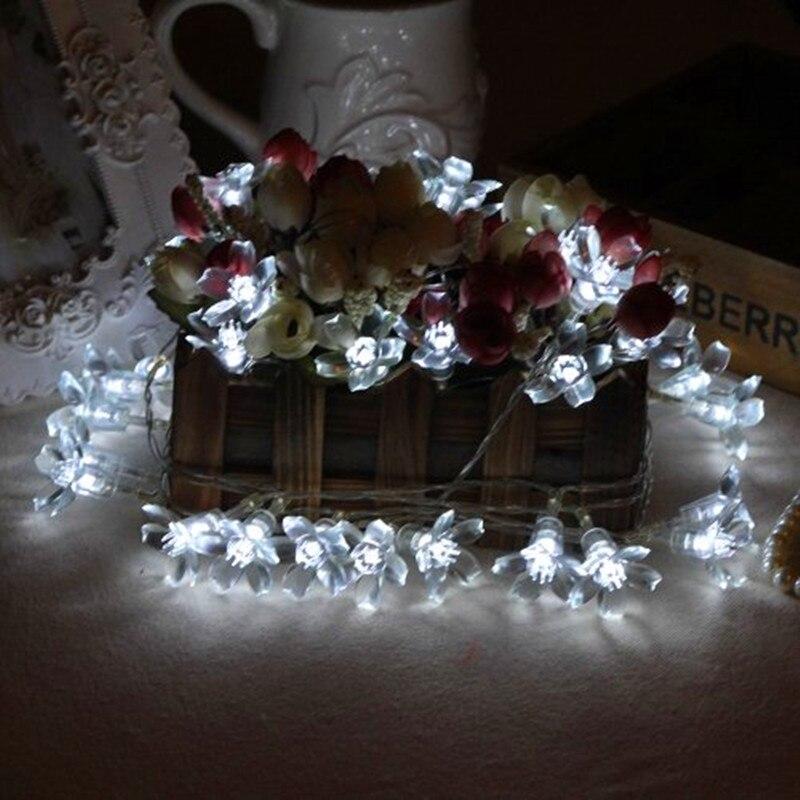 Новый 5 м Фея вишня гирлянды светодиодные фонари строка цветок огни напольный Рождество Лампы для мотоциклов Освещение для отдыха и вечерин...