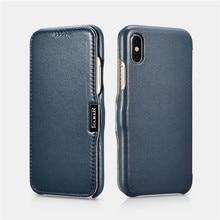 ICARER Оригинальный Роскошный защитный чехол из натуральной кожи с полным краем для Apple IPhone X XS ультра тонкий чехол для телефона Funda