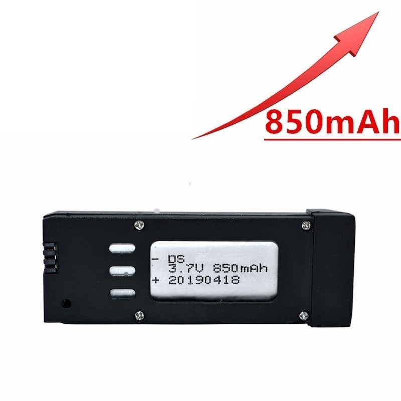 Upgraded Version 850mAh 3.7V Lipo Battery For E58 S168 JY019 RC Drone Quadcopter Spare Parts 3.7v Rechargeable Battery