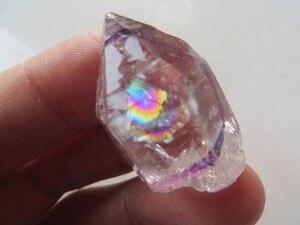 10,2 г AAA супер прозрачный кварцевый кристалл алмаз херкимера с большими радужными луками