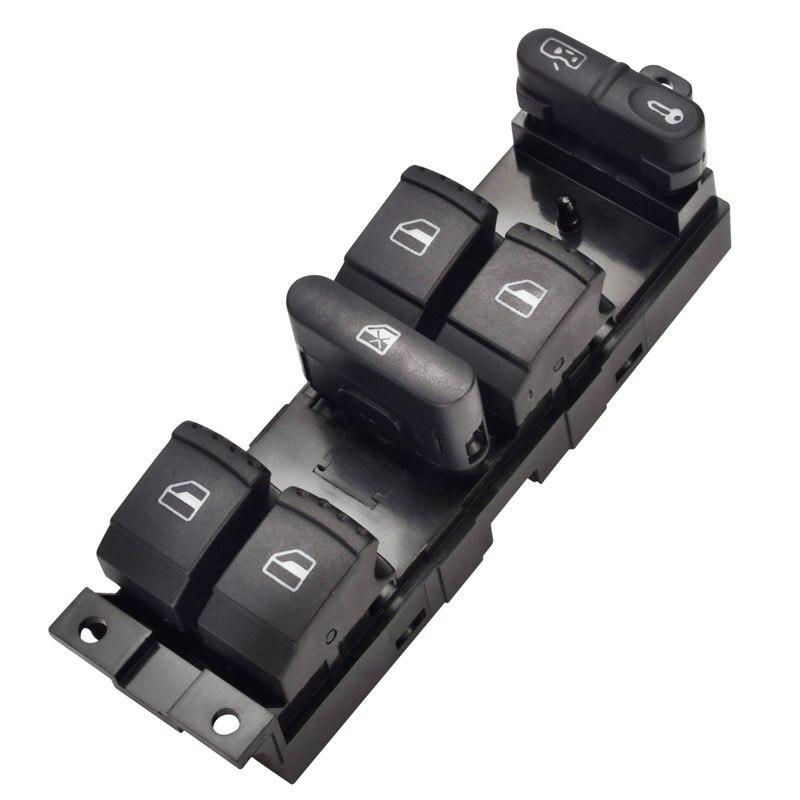 מאסטר כוח חלון מתג שחור כפתור עבור פולקסווגן פולקסווגן גולף 4 Jetta MK4 בורה חיפושית פאסאט B5 1J4 959 857D