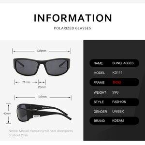 Image 5 - KDEAM Brand Mens Polarized Sunglasses TR90 Rectangle Coating Driving Glasses Sport Goggles Gafas De Sol KD111