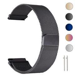 22 мм Миланского петля ремешок для samsung Шестерни S3 Frontier/классические часы Band 20 мм Нержавеющаясталь браслет для Шестерни S2 Amazfit