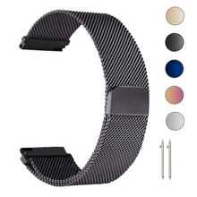 22mm Milanese Loop Strap For Samsung Gear S3 Galaxy Watch 46MM 42MM Active 2 Band 20mm Stainless Steel Band for Gear S2 Amazfit 22mm milanese watch band for samsung galaxy gear 2 r380 neo r381 live r382 moto 360 2 46mm stainless steel strap metal bracelet