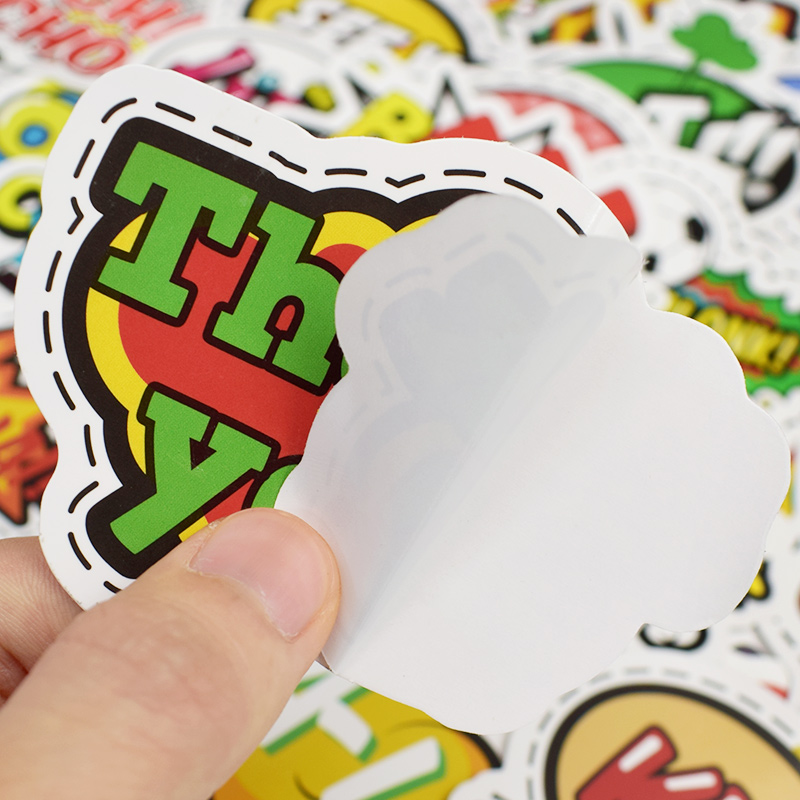 50pcs park Pop Art style Graffiti letter Stickers Children Waterproof Stickers Toys For Moto car suitcase Car Skateboard sticker in Stickers from Toys Hobbies