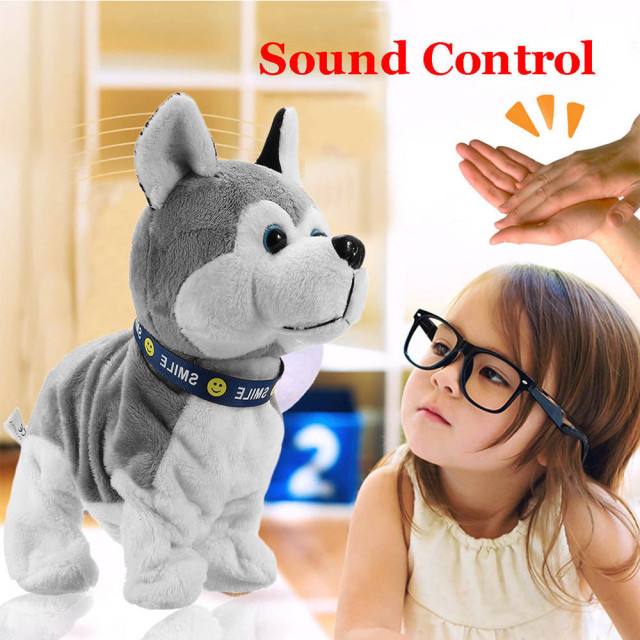 Interactive Robot Dog Electronic Plush Toy Walk Sound Bark Stand For Kids Gift  Cute Toy Kid Child Christmas Gift Fun Cute Eject