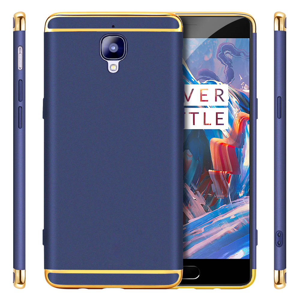 GKK OnePlus 3T Electroplated 3 in 1 Phone Case for OnePlus 3 Case A3000 Hard with Screen Protector OnePlus 3T Case Cover