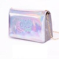 Hologram Laser Mini Flap Women Messenger Bag Fashion Girls Small Crossbody Bag Preal Glitter Purses Handbag