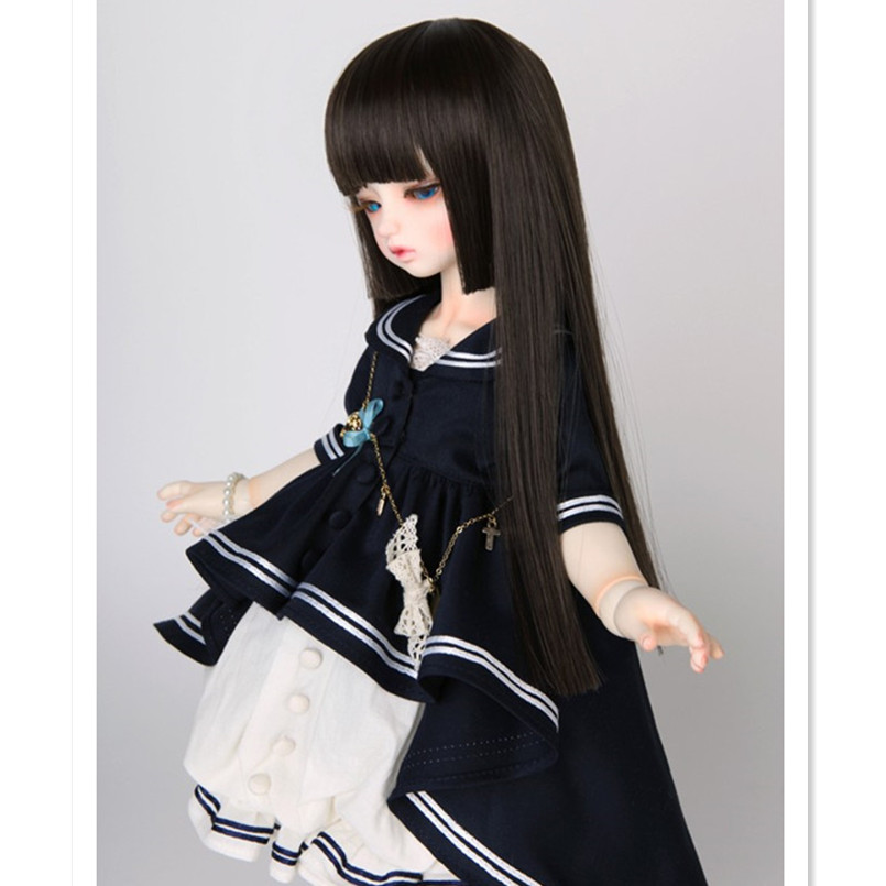 1/3 1/4 1/6 Bjd Sd Doll Wigs High Temperature Wire Long BJD Super Dollfile Hair Wig Synthetic Doll Hair for Dolls Accessories synthetic bjd wig long wavy wig hair for 1 3 24 60cm bjd sd dd luts doll dollfie cut fringe