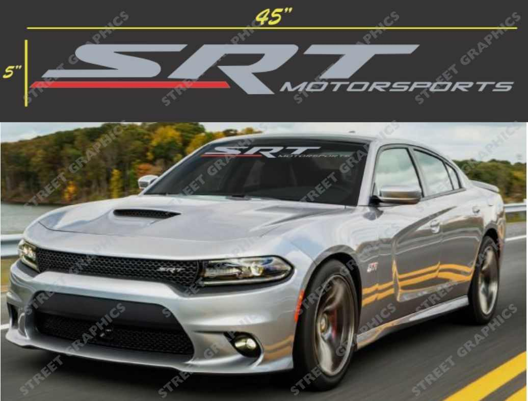 Windshield decal sticker banner charger challenger or any srt car
