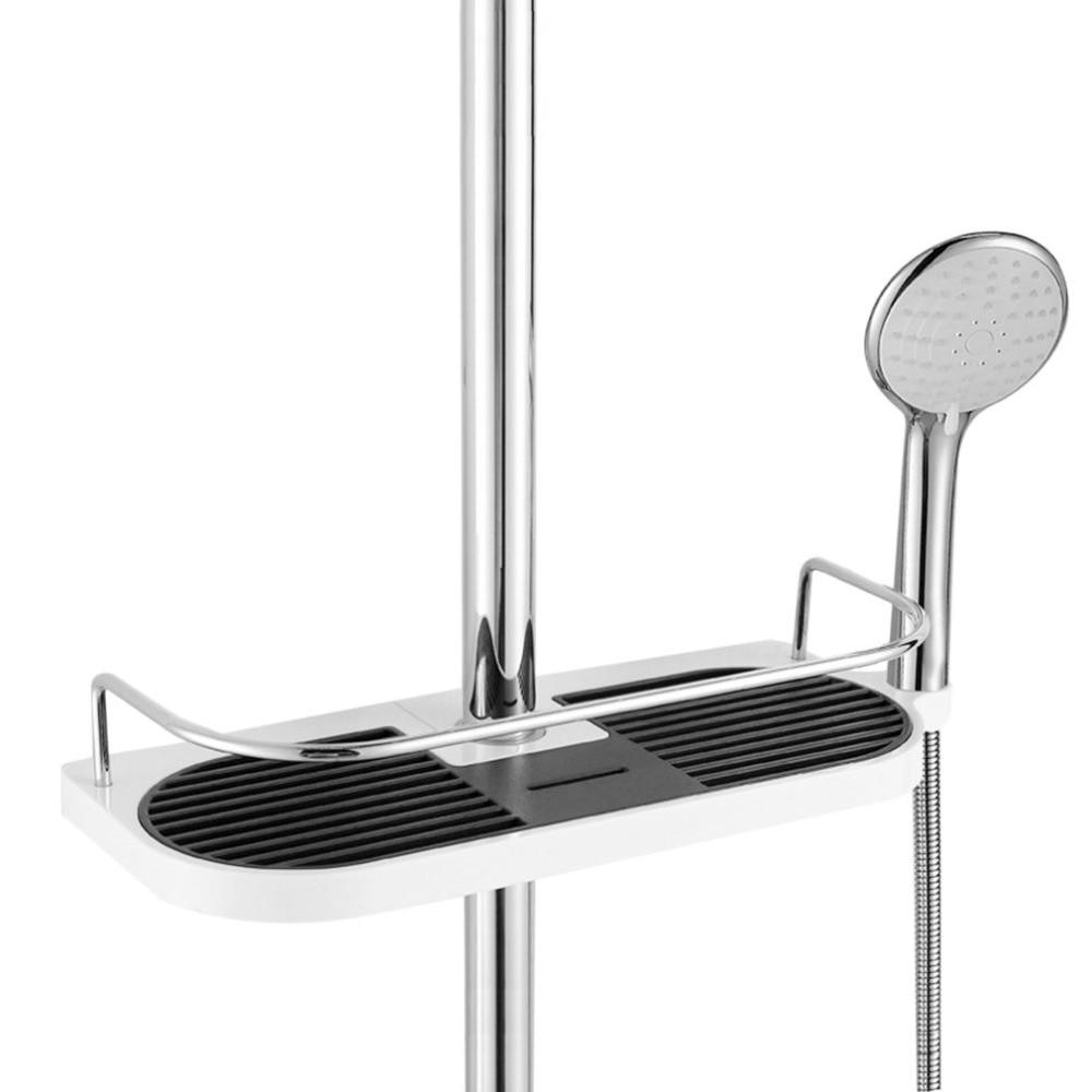 Multifunctional Bathroom Storage Holder Rack Soap Shampoo Tray Toilet Shelf Showerhead Lifting Bar Mounted Shower Head Holder