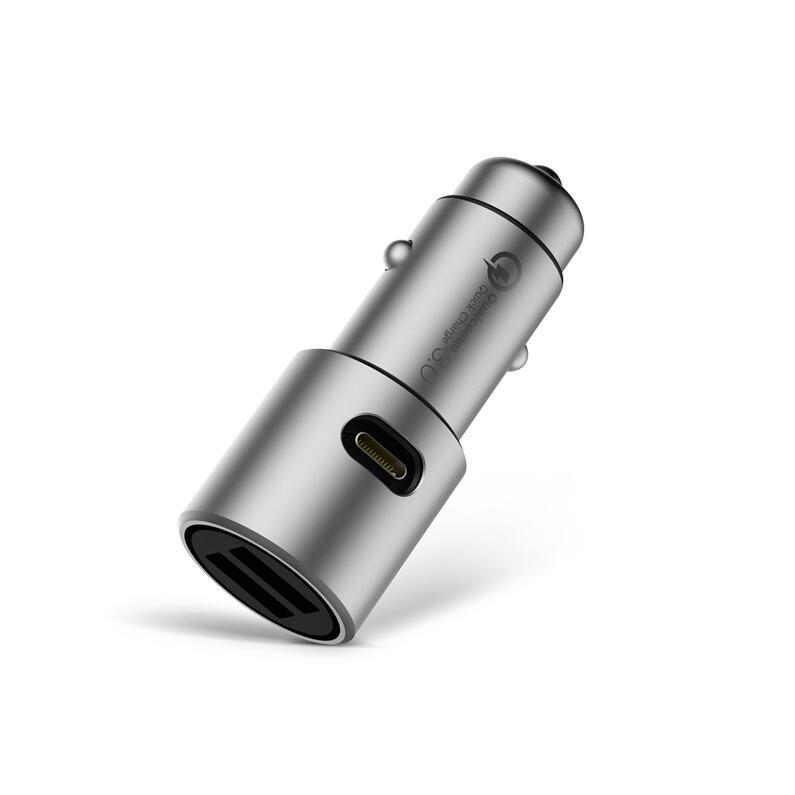 Max 36 W D'origine Xiaomi Chargeur De Voiture QC3.0 X2 Full Metal double USB Smart Contrôle Rapide Charge Rapide 5 V = 3A * 2 ou 9 V = 2A * 2 12 V = 1.5A * 2