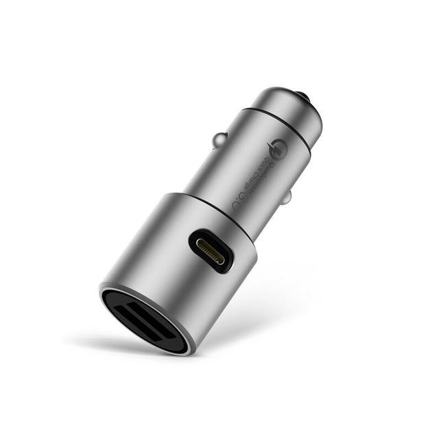 Max 36W Original Xiaomi Car Charger QC3.0 X2 Full Metal Dual USB Smart Control Fast Quick Charge 5V=3A*2 or 9V=2A*2 12V=1.5A*2
