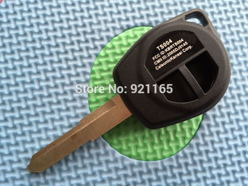10pcslot of new replacement key blank For Suzuki SWIFT SX4 INGIS SPLASH WAGON R ALTO 2 Button Remote Key Fob  case