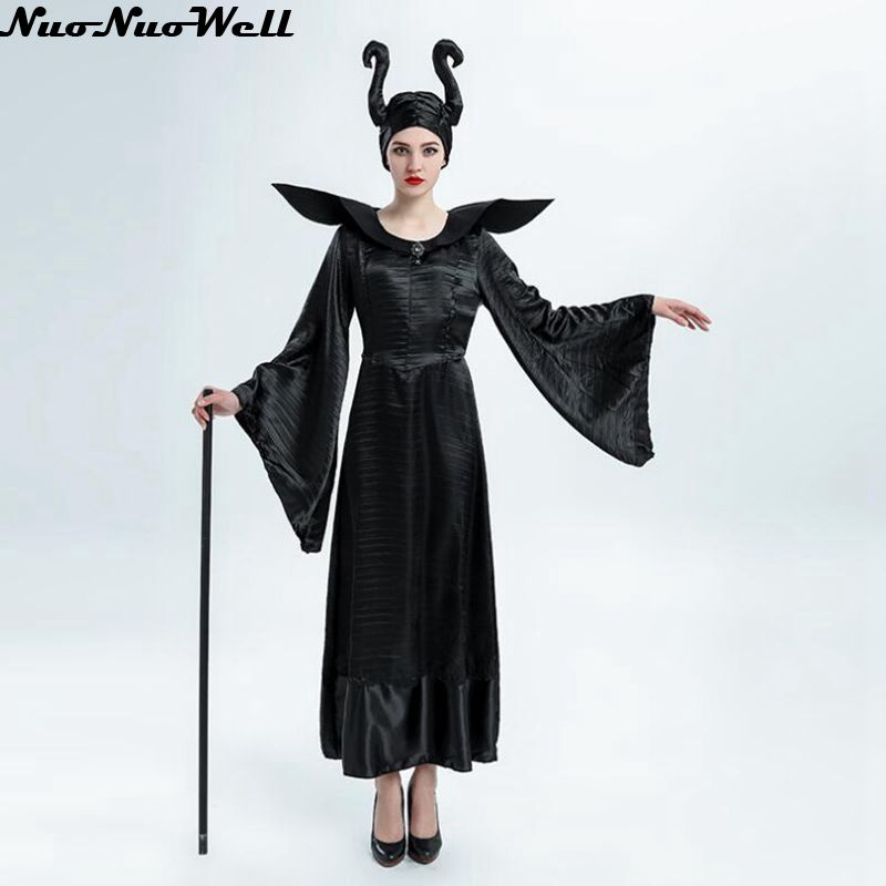 Sleeping Spell Costumes Women Black Evil Halloween Costume Clothes Masquerade Carnival Cosplay V&ire Game Uniform with Ox Horn-in Holidays Costumes from ...  sc 1 st  AliExpress.com : evil halloween costume  - Germanpascual.Com