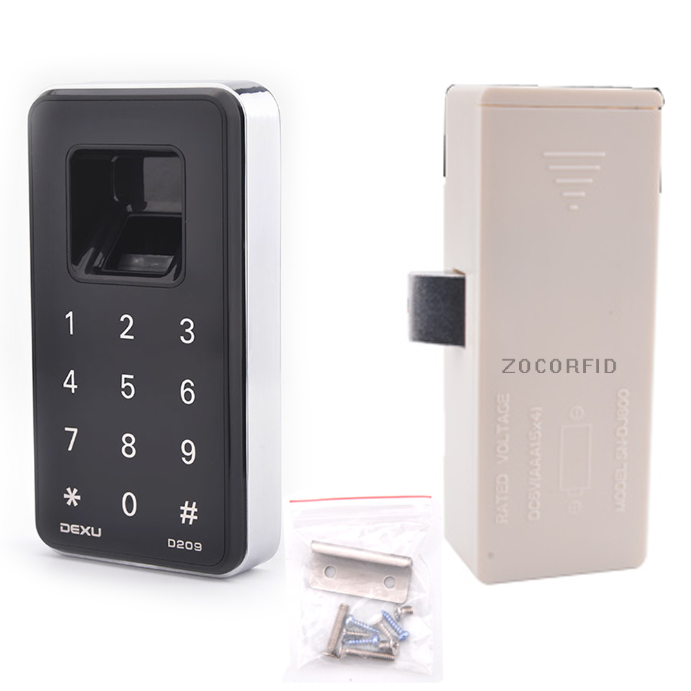 DIY Electronic cabinet door lock small electric locks cabinet locks drawer small electric lock fingerprint control