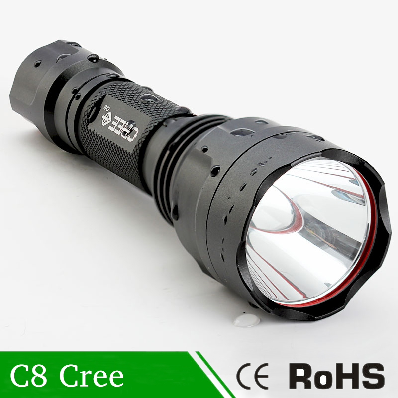 Q5 Super Bright High Lumens Outdoor Lamp Portable Led Flashlight C8 lanterna Light Powered By 18650 Battery For camping tactical super bright hiking camping 18650 battery led 400 lumens 3 mode tactical flashlight torch lamp charger aluminum alloy