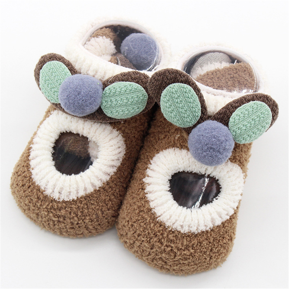 0 4 Years Spring Autumn Baby Foot Socks Coral Fleece Cute Sokken Cartoon Meias Soft Animal Patten Baby Boy Socks Baby Girl Socks in Foot Socks from Mother Kids