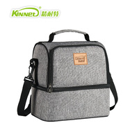 KinNet Thermal Bag Breast Milk Package Double Layers Insulated Cooler Bag Red Oxford Shoulder Bag For
