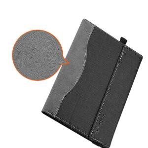 Image 4 - Funda protectora de piel sintética para Lenovo Yoga Book, funda protectora de cuero PU para YB1 X91F, 10,1 pulgadas