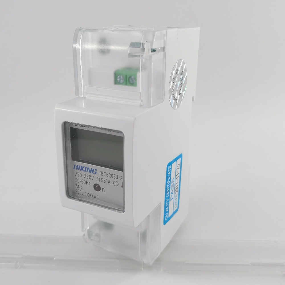 5(65)A 65A 220V 230V 60HZ 50HZ DDS238-2 Single phase Din rail KWH Watt hour din-rail energy meter LCD 5 65 a 230v 50hz display voltage current positive reverse active reactive power single phase din rail kwh watt hour energy meter